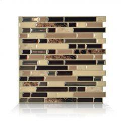 "10.06"" x 10"" Bellagio Keystone Mosaic Wall Tile-6/Pack"