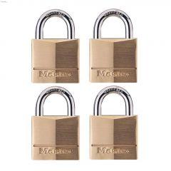 "1-9/16"" Solid Brass Padlock-4/Pack"