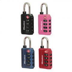 "1-3/8"" Assorted Metal Body Luggage Lock"