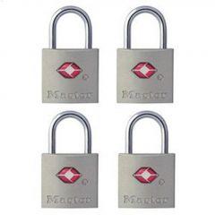 "7/8"" Metal Body Luggage Lock-4/Pack"