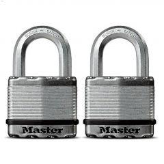 """2-1/2"""" Steel Keyed Padlock-2/Pack"""