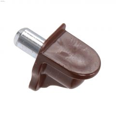 "0.65"" x 1/2"" Brown Metal Shelf Pin-4/Pack"