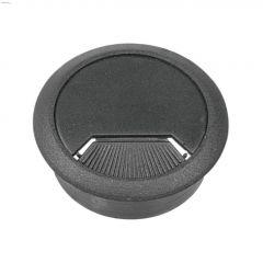 """2-3/8"""" Opening Gray Plastic Swivel Desk Grommet-1/Pack"""