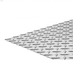 """12"""" x 24"""" x 0.1"""" Aluminum Brite Aluminum Tread Plate"""