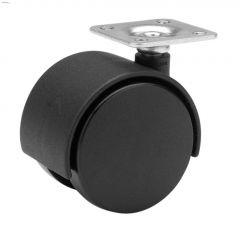 """1-5/8"""" Black Twin Wheel Caster"""