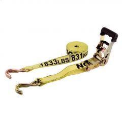 """15' x 1-1/2"""" Heavy Duty Ratcheting Tie-Down Strap-2/Pack"""