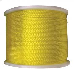 "3/16"" x 2125' Yellow Medium Duty Twisted Rope"