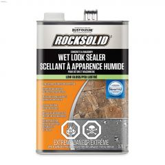 RockSolid 3.78 L Can Low-Gloss White Wet Look Sealer