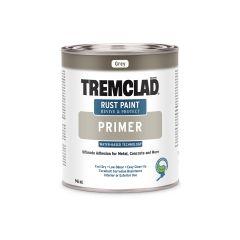 Tremclad 946 mL Flat Gray Primer Water-Based Rust Primer