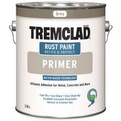 Tremclad 3.78 L Flat Gray Primer Water-Based Rust Primer