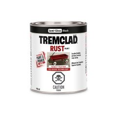 Tremclad 946 mL Can Semi-Gloss Black Rust Paint