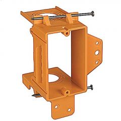"1-1/8"" Orange Single Gang Low Voltage New Work Bracket"