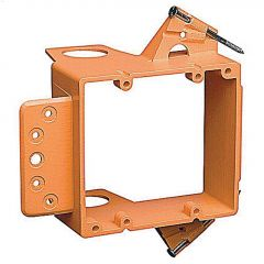 "1-1/8"" Orange Double Gang Low Voltage New Work Bracket"