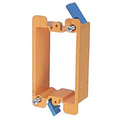 "1-1/8"" Orange Single Gang Low Voltage Rework Bracket"