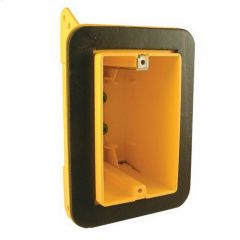 "2-3/4"" Yellow Plastic Resin Single Gang Device Box"