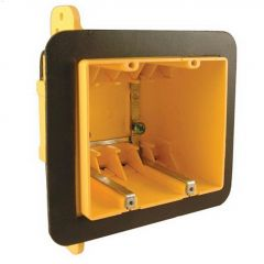 "2-3/4"" Yellow Plastic Resin Double Gang Device Box"