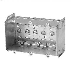 "3"" x 6"" x 2-1/2"" Metal 3-Gang Device Box"
