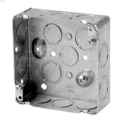 "4"" x 4"" x 1-1/2"" Rugged Metallic Square Device Box"