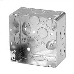 "4"" x 4"" x 2-1/8"" Rugged Metallic Square Device Box"