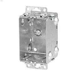 "2"" x 3"" x 2"" Rugged Metallic Single Gang Device Box"