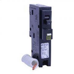 1P 15A Pigtail Neutral Black Comb Arc Fault Circuit Breaker