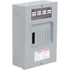 100A 6/6 Circuit Baked Enamel Gray Load Center Sub Panel