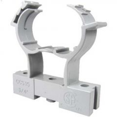 "3/4"" PVC Gray Conduit Clamp & Spacer"