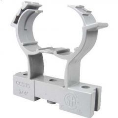 "1/2"" PVC Gray Conduit Clamp & Spacer"