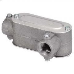 "1/2"" Cast Aluminum Gray Type LRL Conduit Body"