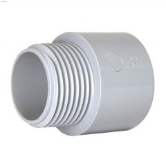 "1-1/4"" PVC Gray Terminal Adapter"