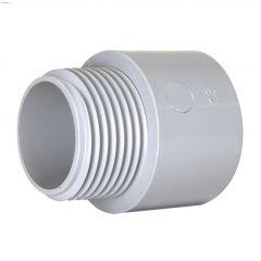 "1-1/2"" PVC Gray Terminal Adapter"