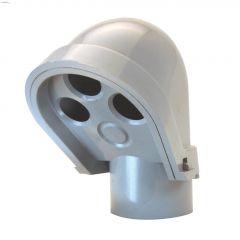 "2"" PVC Gray Service Entrance Head Cap"