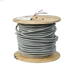 14 AWG 3 Conductor 246' AC90 Armoured Building Wire