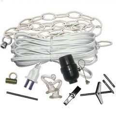 White Assorted Swag Lamp Kit