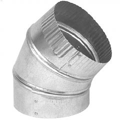 "5"" Galvanized 30 ga. 45 Degree Adjustable Elbow"