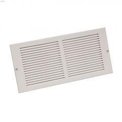"""24"""" x 6"""" White Steel Louvered Design Sidewall Grille"""
