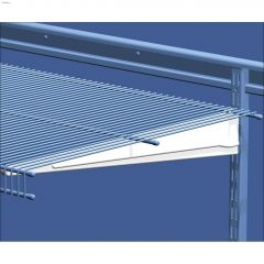 "ShelfTrack 20"" Wire Shelving Bracket in White"