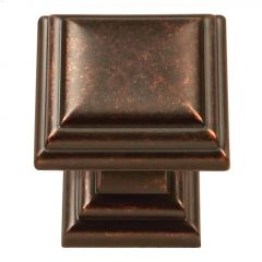 "1-1/8"" x 1-1/8"" Dark Antique Copper Sommerset Cabinet Knob"