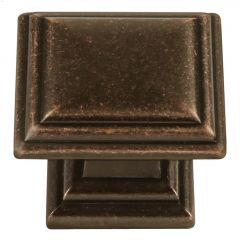 "1-5/16"" x 1-5/16"" Dark Antique Copper Sommerset Cabinet Knob"