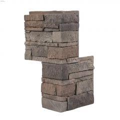 """GenStone\u00ae 24\"""" x 12 Or 7\"""" Stacked Stone Corner"""
