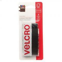 """3-1\/2\"""" x 3\/4\"""" Black Velcro Sticky Back Tape"""