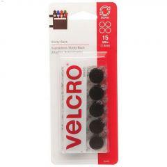 "5\/8\"" x 5\/8\"" Black Nylon Velcro Sticky Back Coin-15 Pieces"