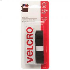 """18\"""" x 3\/4\"""" Black Velcro Sticky Back Tape"""