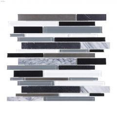 Bliss Stainless Linear Mosaic