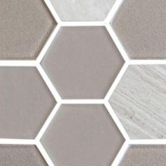 "11.8\"" x 11.8\"" x 4 mm Harmony Exagon Series Tile"