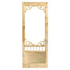 """32\"""" x 80\"""" Rustic Knotty Pine Screen Door"""