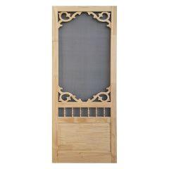 """34\"""" x 80\"""" Rustic Knotty Pine Screen Door"""