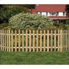 "42"" x 8' Gothic Picket Fence Panel"