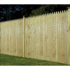 6' x 8' Moulded Stockade Fence Panel