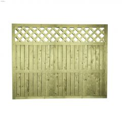 "64"" x 8' Lattice Top Fence Panel"